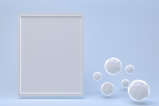 Leerer rahmen mit kristallen