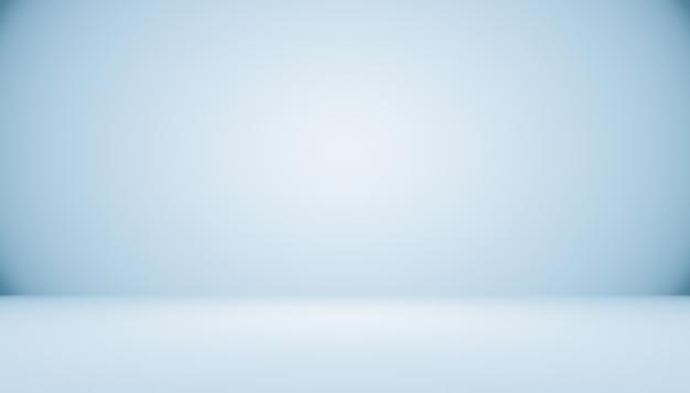 Leerer raum des abstrakten hintergrundes des blauen farbverlaufs mit platz für ihren text und bild