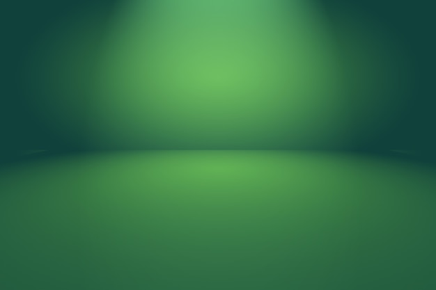 Leerer raum des abstrakten hintergrunds des grünen farbverlaufs mit raum für ihren text und bild.