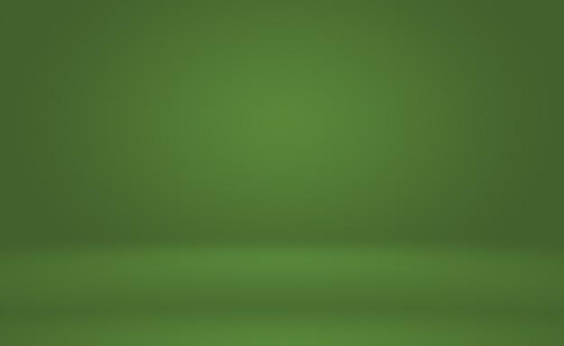 Leerer raum des abstrakten hintergrunds des grünen farbverlaufs mit raum für ihren text und bild