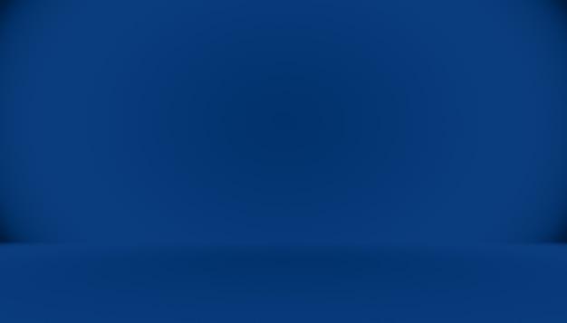 Leerer raum des blauen farbverlaufs abstrakter hintergrund mit platz für ihren text und bild