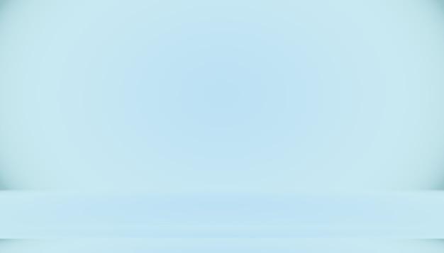 Leerer raum des blauen farbverlaufs abstrakter hintergrund mit platz für ihren text und ihr bild.