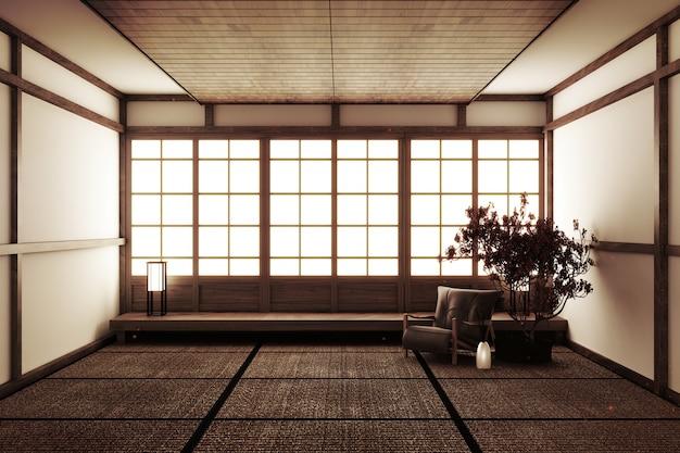 Leerer raum im japanischen stil
