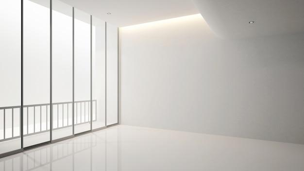 Leerer raum in der wohnung oder im hotel für grafik - innenarchitektur