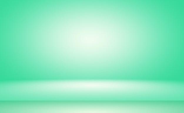 Leerer raum mit grünem farbverlauf abstrakter hintergrund mit platz für ihren text und ihr bild
