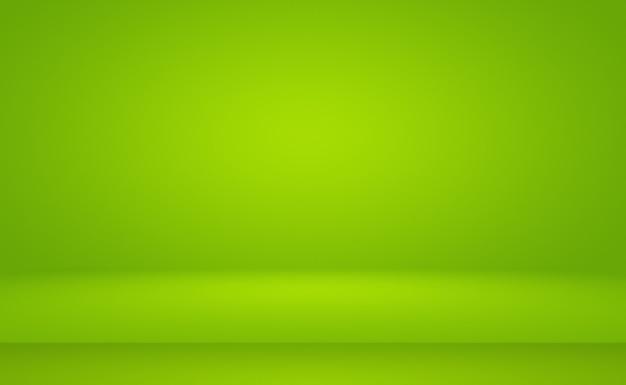 Leerer raum mit grünem farbverlauf abstrakter hintergrund mit platz für ihren text und ihr bild.
