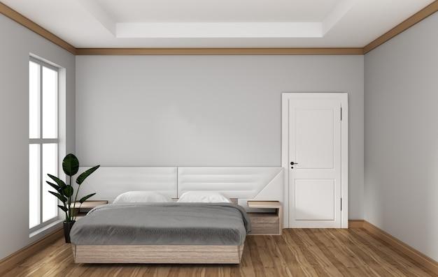 Leerer raum - moderner schlafzimmerrauminnenraum. 3d-rendering