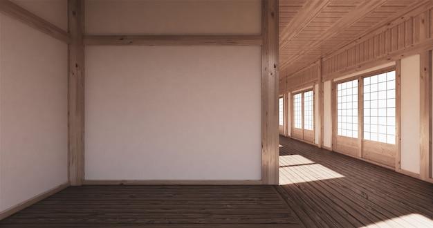 Leerer raum tatami, der das schönste verbindet