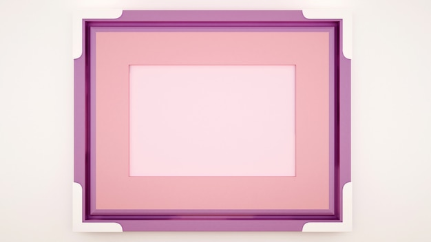 Leerer rosa violetter rahmen