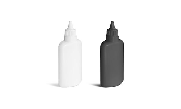 Leerer schwarz-weißer kleberohrständer isoliert