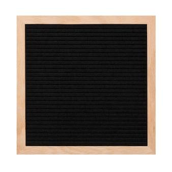 Leerer schwarzer briefkasten lokalisiert auf weiß.