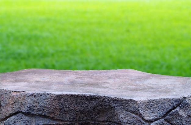 Leerer steintisch natur hintergrund