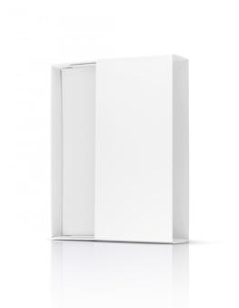 Leerer weißbuch-pappschiebekasten der verpackung für produktdesign