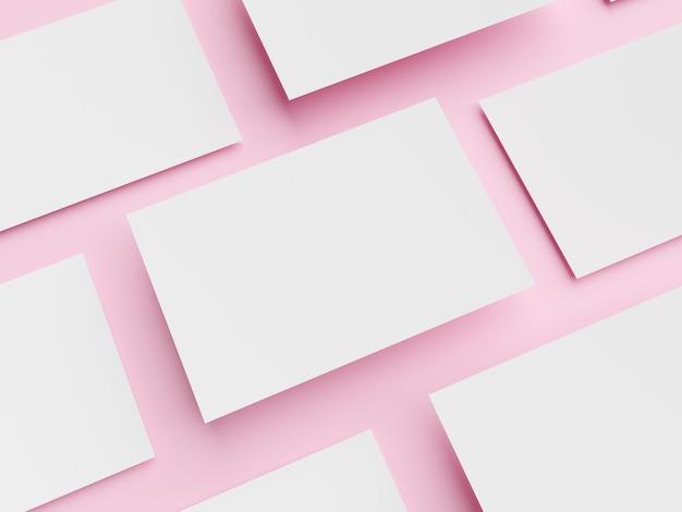 Leerer weißer papierhintergrund mit rahmen für notizmodell