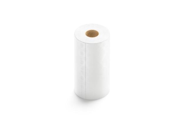 Leerer weißer papiertuchständer isoliert