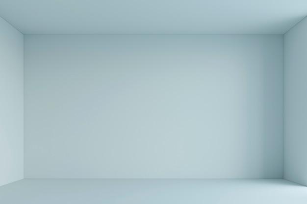 Leerer weißer unbedeutender raum. 3d-rendering