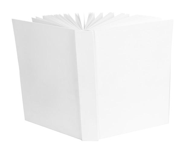 Leeres buch auf weiß