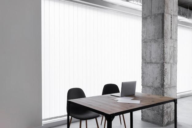 Leeres büro mit kopierraum