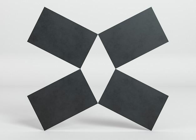 Leeres firmenkopienraum-visitenkarten-abstraktes design