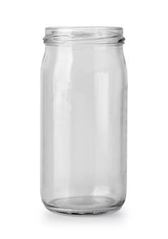 Leeres glas isoliert auf weißem hintergrund mit beschneidungspfad