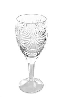 Leeres glas isoliert auf weißer fläche