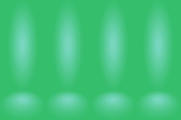 Leeres grünes studio gut als hintergrundwebsite-vorlagenrahmen verwenden