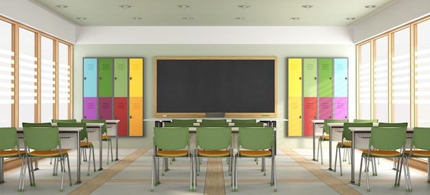 Leeres modernes klassenzimmer