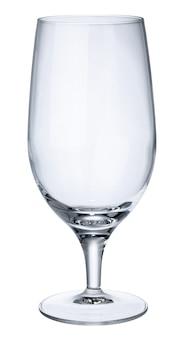 Leeres neues bierglas lokalisiert auf weiß