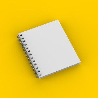 Leeres notizbuch auf gelb