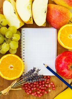 Leeres notizbuch für rezepte