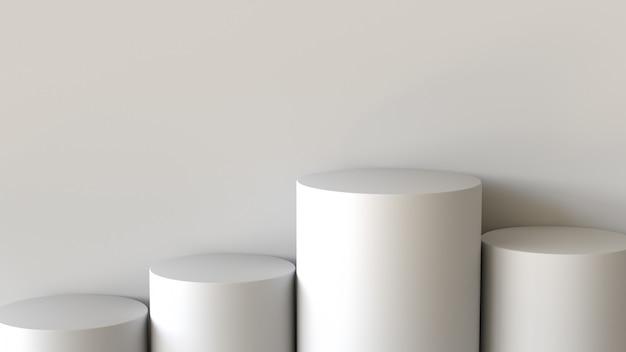 Leeres podium auf weißem hintergrund