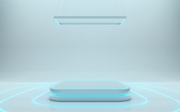 Leeres podium für das produkt. 3d-rendering - abbildung