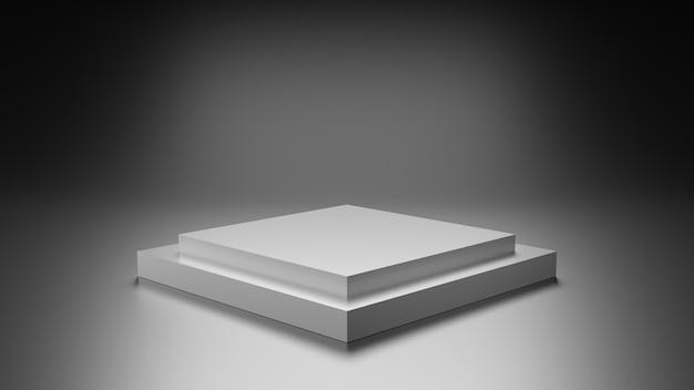 Leeres podium für produkt-3d-rendering