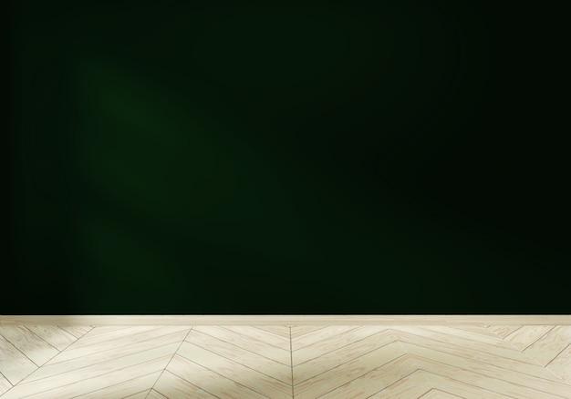 Leeres raumweiß auf innenarchitektur des bretterbodens