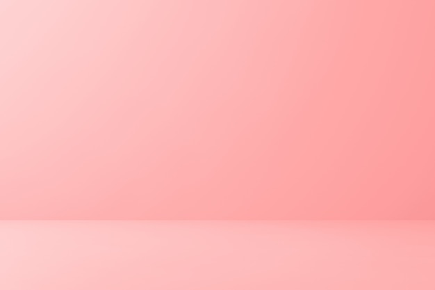 Leeres rosa display auf bodenhintergrund mit minimalem stil. 3d-rendering.