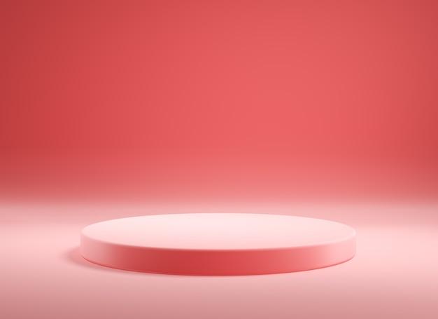 Leeres rosa produktpodest, 3d