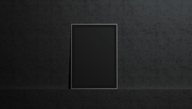 Leeres schwarzes papierplakat