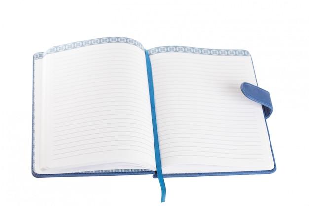 Leeres tagebuch mit offenen leeren seiten