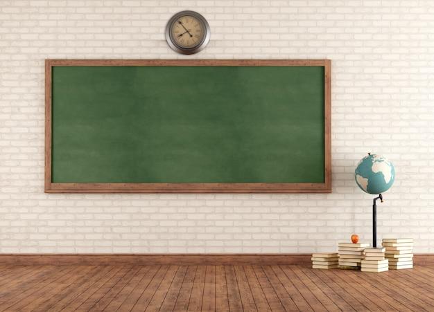 Leeres vintage klassenzimmer
