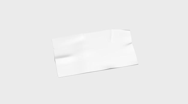 Leeres weißes klebebandstück geklebt, isoliert