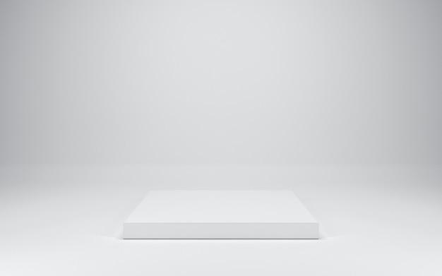 Leeres weißes podium, 3d rendern