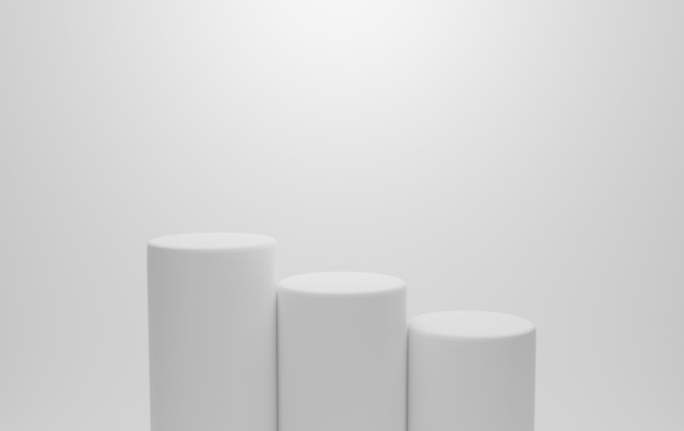 Leeres weißes podium für displayprodukt.