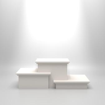 Leeres weißes podium