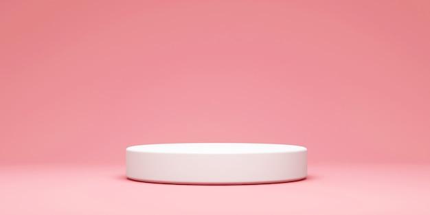 Leeres weißes rundes podium auf studiohintergrund