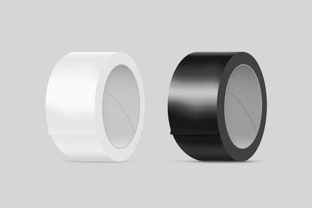 Leeres weißes und schwarzes klebeband