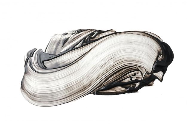 Lehm- oder holzkohlengesichtsmaskenanschlag auf weißem hintergrund