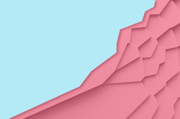 Leichte digitale textur von blöcken unterschiedlicher größe unterschiedlicher formen, die übereinander ragen und schatten-3d-illustration werfen