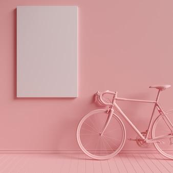 Leinwand mock-up in minimalismus monochrom