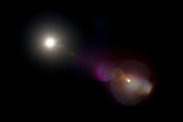 Lens flare-effekt psd