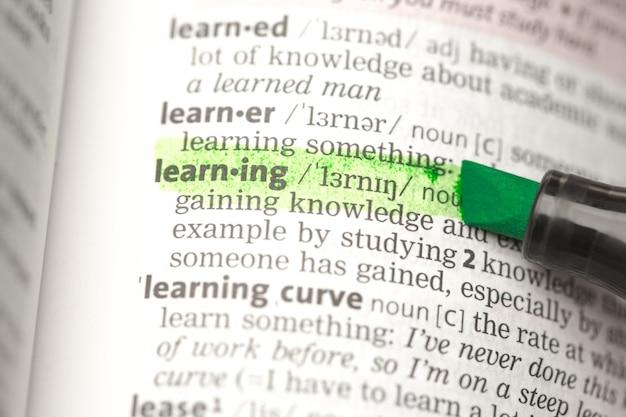 Lerndefinition hervorgehoben
